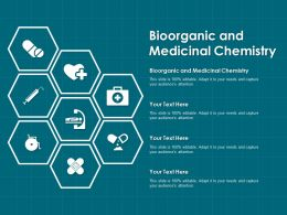 Bioorganic And Medicinal Chemistry Ppt Powerpoint Presentation Outline Visual Aids
