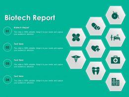 Biotech Report Ppt Powerpoint Presentation Slides Professional