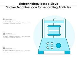 Biotechnology Based Sieve Shaker Machine Icon For Separating Particles