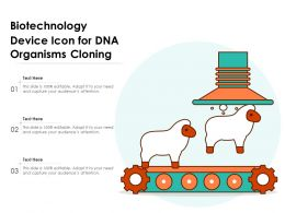 Biotechnology Device Icon For DNA Organisms Cloning