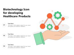 Biotechnology Icon For Developing Healthcare Products