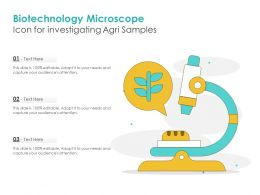 Biotechnology Microscope Icon For Investigating Agri Samples