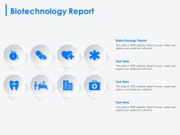 Biotechnology Report Ppt Powerpoint Presentation Professional Design Inspiration