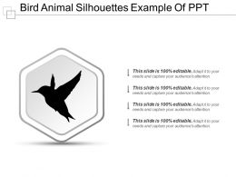 Bird Animal Silhouettes Example Of Ppt