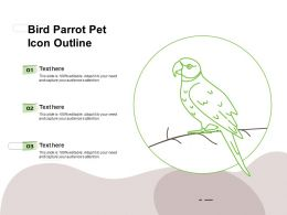 Bird Parrot Pet Icon Outline