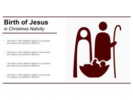 Birth Of Jesus In Christmas Nativity