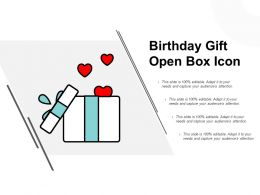 Birthday Gift Open Box Icon