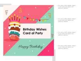 Birthday Wishes Card At Party