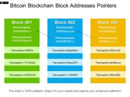 Bitcoin Blockchain Block Addresses Pointers