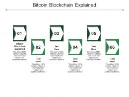 Bitcoin Blockchain Explained Ppt Powerpoint Presentation Pictures Background Designs Cpb