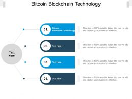 Bitcoin Blockchain Technology Ppt Powerpoint Presentation Gallery Cpb