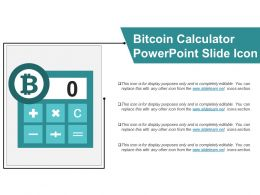 Bitcoin Calculator Powerpoint Slide Icon