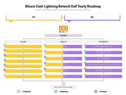 Bitcoin Cash Lightning Network Half Yearly Roadmap