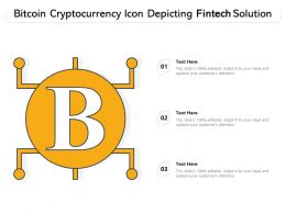 Bitcoin Cryptocurrency Icon Depicting Fintech Solution