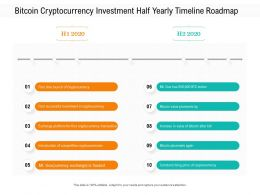 Bitcoin Cryptocurrency Investment Half Yearly Timeline Roadmap