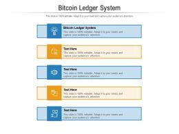 Bitcoin Ledger System Ppt Powerpoint Presentation Portfolio Graphics Cpb