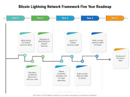 Bitcoin Lightning Network Framework Five Year Roadmap