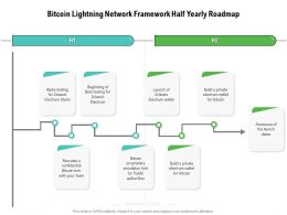 Bitcoin Lightning Network Framework Half Yearly Roadmap