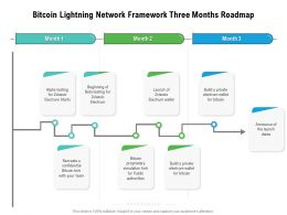 Bitcoin Lightning Network Framework Three Months Roadmap