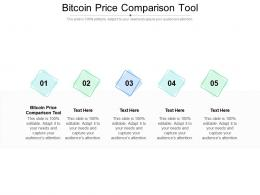 Bitcoin Price Comparison Tool Ppt Powerpoint Presentation Icon Inspiration Cpb