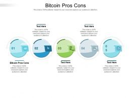 Bitcoin Pros Cons Ppt Powerpoint Presentation Icon Influencers Cpb