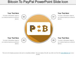 Bitcoin To Paypal Powerpoint Slide Icon