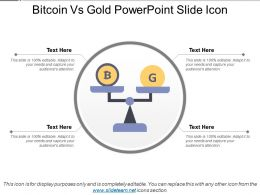 Bitcoin Vs Gold Powerpoint Slide Icon