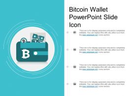 Bitcoin Wallet Powerpoint Slide Icon