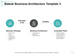 Bizbok Business Architecture Business Architecture Actionable Plans Ppt Powerpoint Presentation