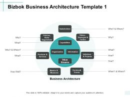 Bizbok Business Architecture Organization Initiatives Ppt Powerpoint Presentation File Skills