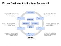 Bizbok Business Architecture Template Metrics And Measure Ppt Powerpoint Presentation Icon Portfolio