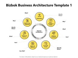 Bizbok Business Architecture Template Vision Strategies Powerpoint Presentation Slides