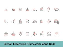 Bizbok Enterprise Framework Icons Slide Technology Ppt Powerpoint Presentation Pictures Sample