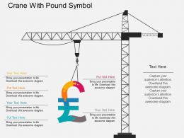 bj Crane With Pound Symbol Flat Powerpoint Design