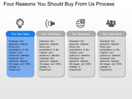 Bj Four Reasons You Should Buy From Us Process Powerpoint Template Slide