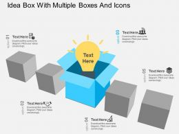 bj Idea Box With Multiple Boxes And Icons Flat Powerpoint Design