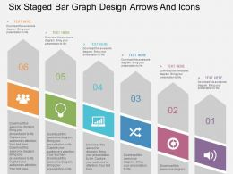 bj Six Staged Bar Graph Design Arrows And Icons Flat Powerpoint Design