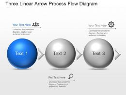 Bj Three Linear Arrow Process Flow Diagram Powerpoint Template