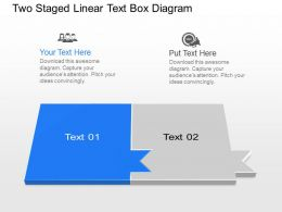 Bj Two Staged Linear Text Box Diagram Powerpoint Template Slide