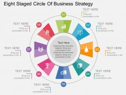 bk Eight Staged Circle Of Business Strategy Flat Powerpoint Design
