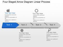 Bk Four Staged Arrow Diagram Linear Process Powerpoint Template Slide