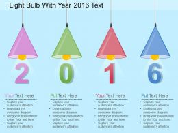 bk Light Bulb With Year 2016 Text Flat Powerpoint Design