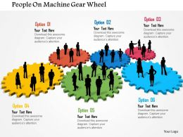 Bk People On Machine Gear Wheel Powerpoint Templets