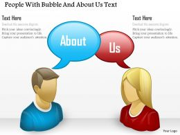 Bk People With Bubble And About Us Text Powerpoint Template