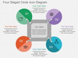 bl Four Staged Circle Icon Diagram Flat Powerpoint Design