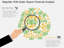 bl Magnifier With Dollar Search Financial Analysis Flat Powerpoint Design