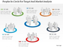 Bl Peoples In Circle For Target And Market Analysis Powerpoint Template