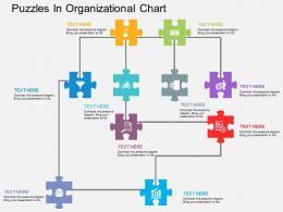 bl Puzzles In Organizational Chart Flat Powerpoint Design