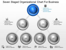 bl Seven Staged Organizational Chart For Business Powerpoint Template