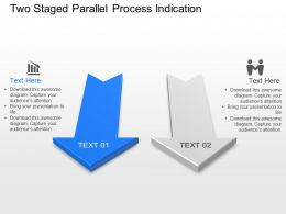Bl Two Staged Parallel Process Indication Powerpoint Template Slide